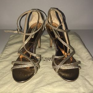 Badgley Mischka Strappy Rose Gold Sandals